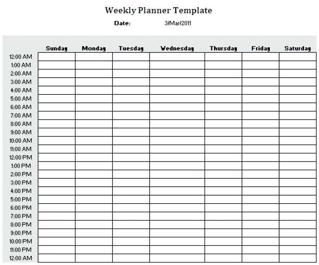 September 2018 – Page 12 – Template Calendar Design Daily Calendar With Hours