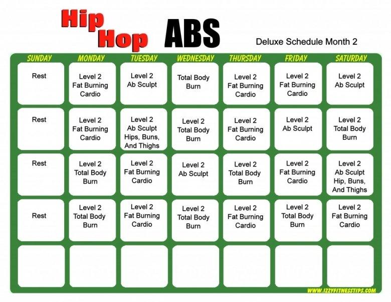 Shaun T Hip Hop Abs Calendar Printable : Free Calendar Hip Hop Abs Schedule Printable