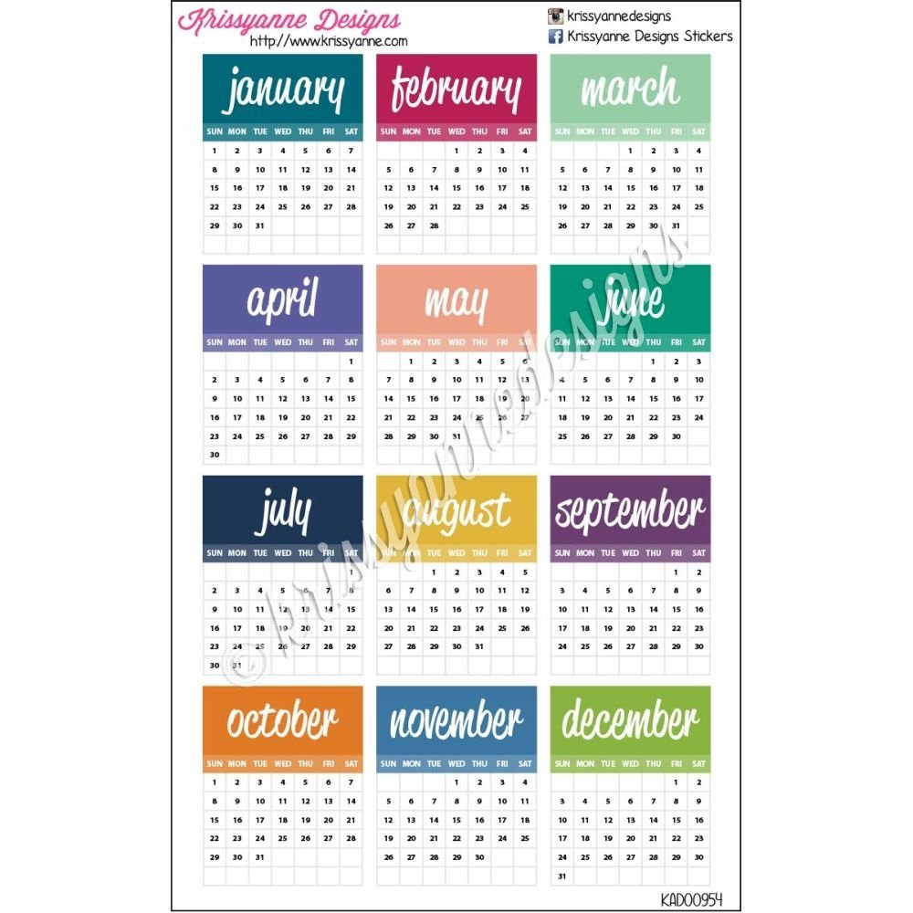 Small Monthly Calendars – 2017 – Set Of 12 Stickers Small Free Printable Calendar