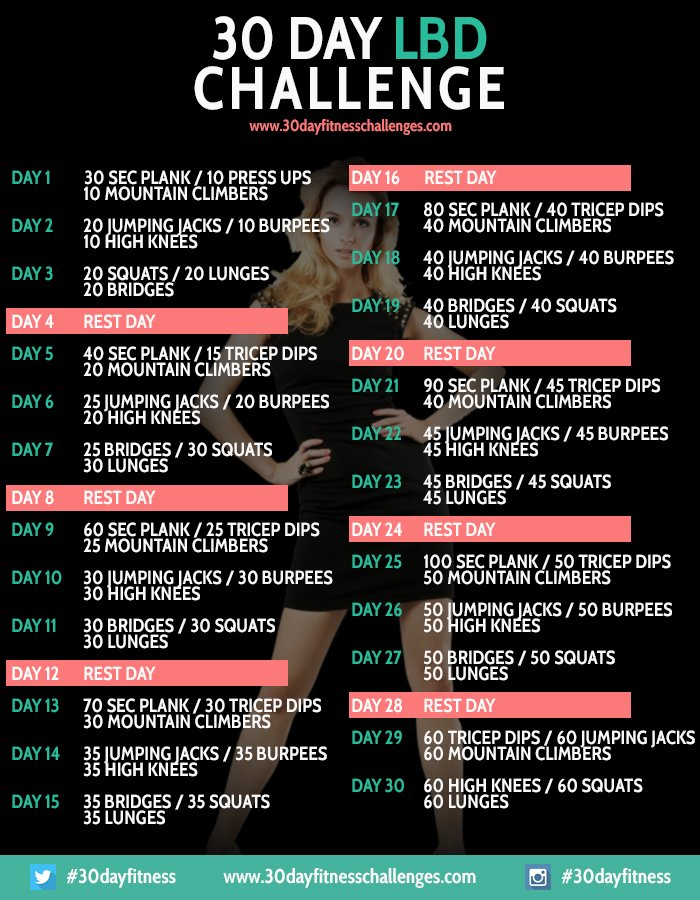 Squat | Excitingly Bored 30 Day Plank Chart