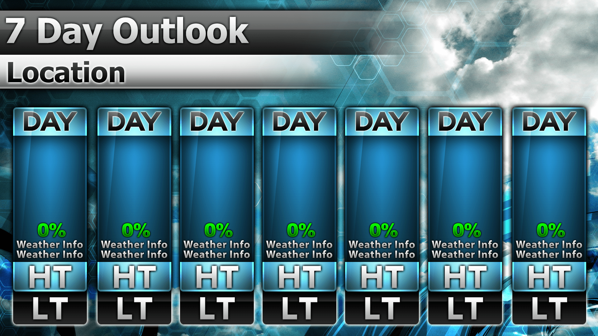 Temp 16 7 Day Preview   Metgraphics   Weather Graphics 7 Day Router Blank