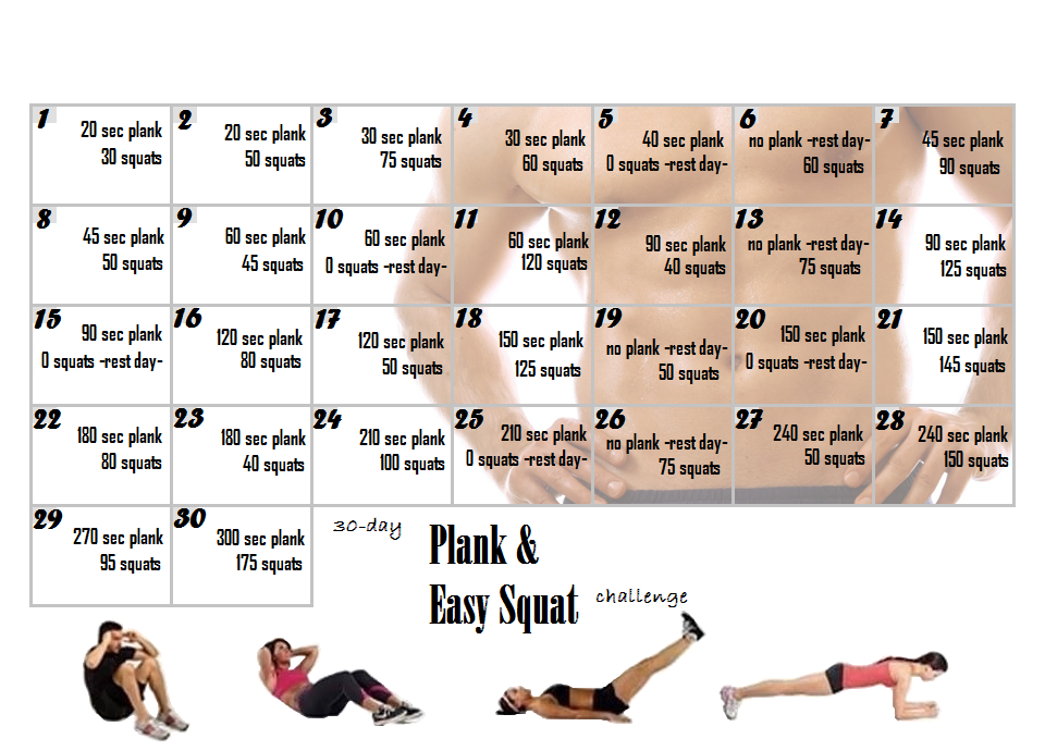 The Life Of A Cosplayer: 30 Day Ab Challenge: Final Thoughts Printable Plank Challenge Calendar
