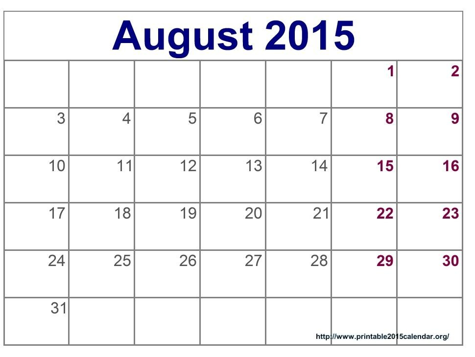 Time And Date August 2015 Calendar Full Templates For You Calanda Templete That I Can Edit