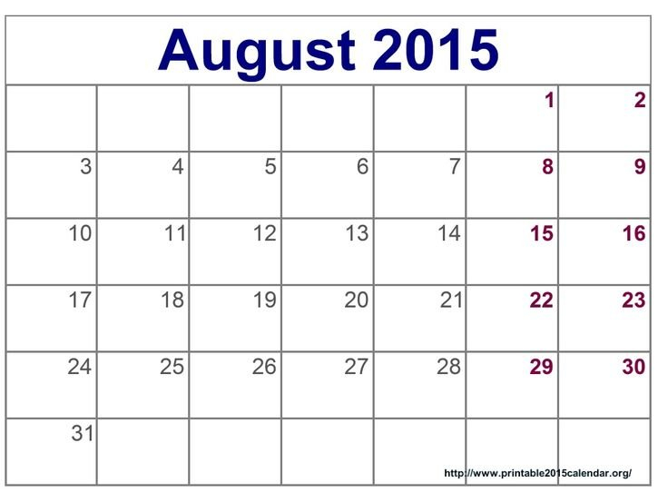 Time And Date August 2015 Calendar Full Templates For You Calendars You Can Edit
