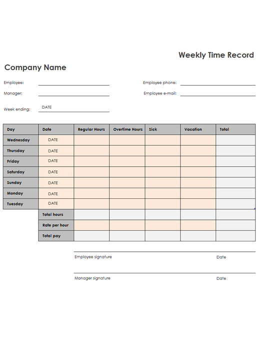 Time Sheet 2 Week Time Sheet Printable