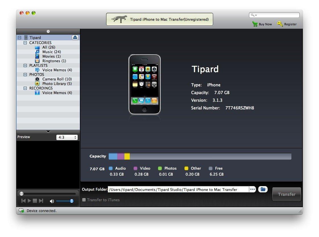 Tipard Iphone To Mac Transfer Main Window – Tipard Studio Free Wordperfect Calendar Templates