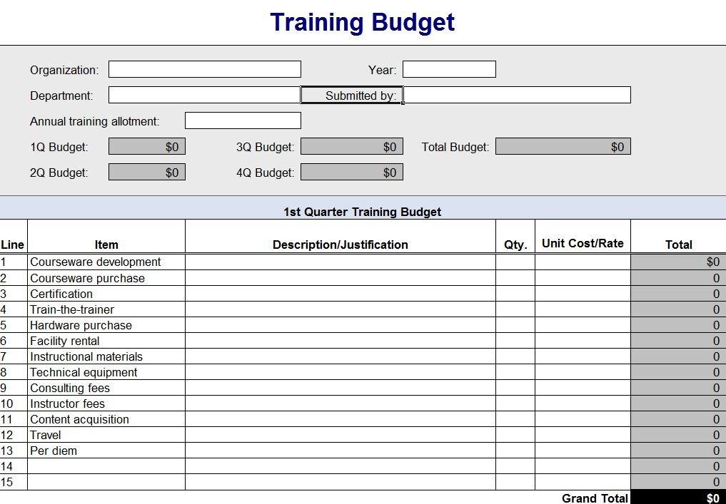 Training Budget Spreadsheet | Training Budget Report Printable Timesheet With Running Calendar