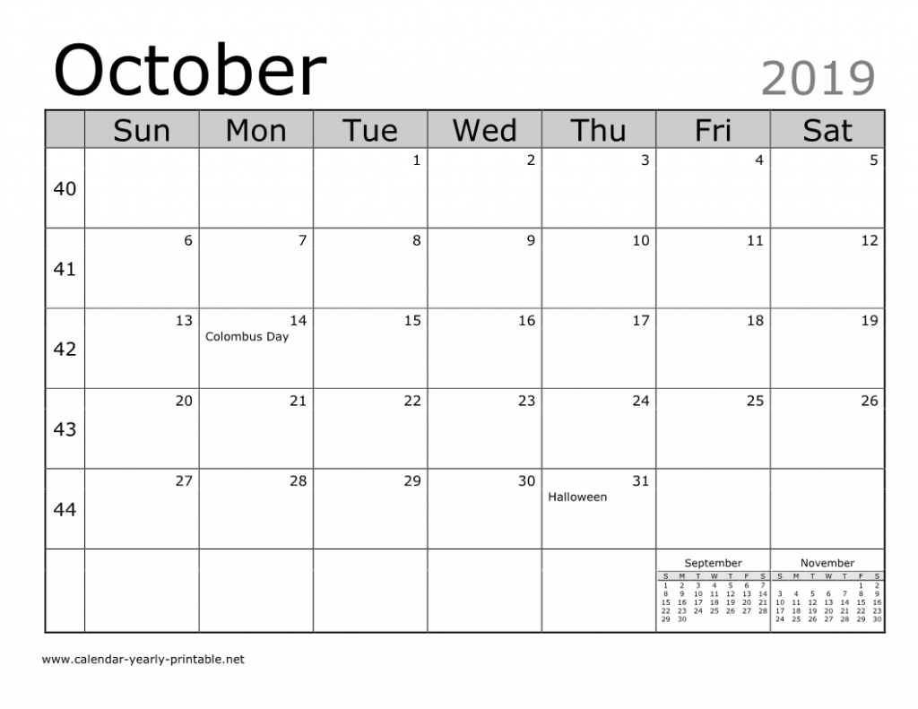 Unique Things You Can Celebrate In October 2019 Calendar Free Calendar You Can Edit