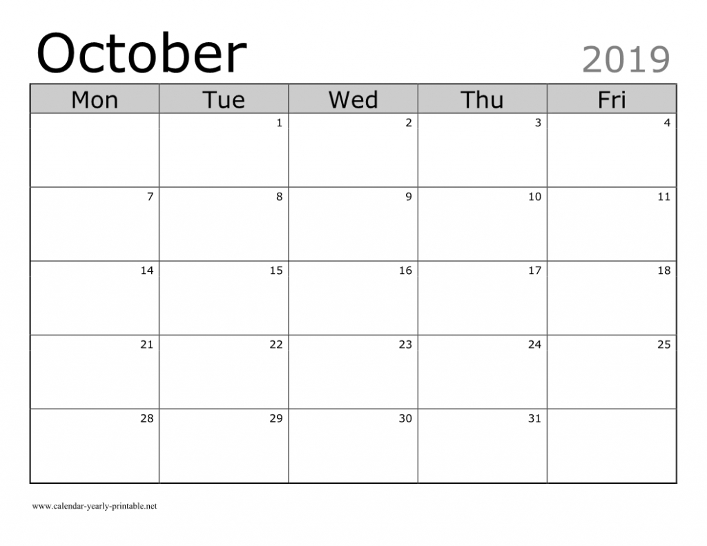 Unique Things You Can Celebrate In October 2019 Calendar Printable Calenders You Can Edit