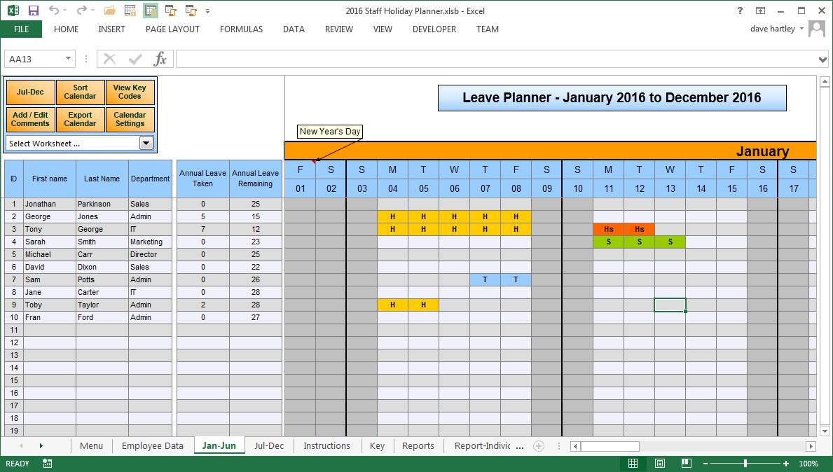Vacation Calendar Template Free | Example Calendar Printable Time Off Calendar Excel Template