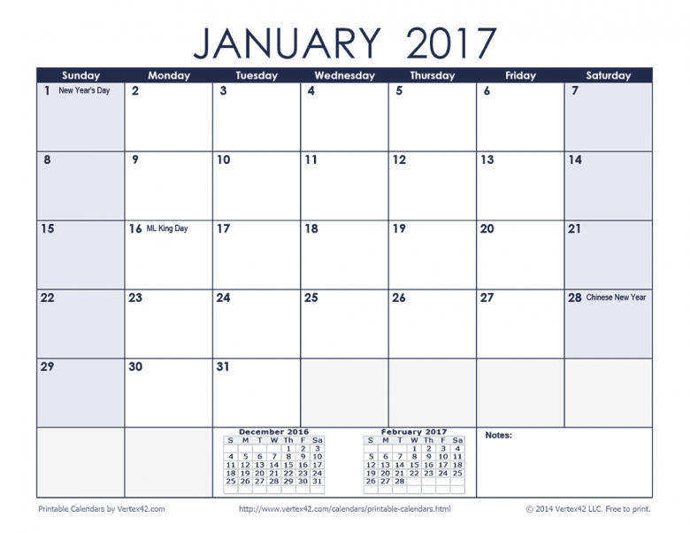 Vertex42 Calendars With Holidays : Free Calendar Template 3 Month Calendar Printable Free