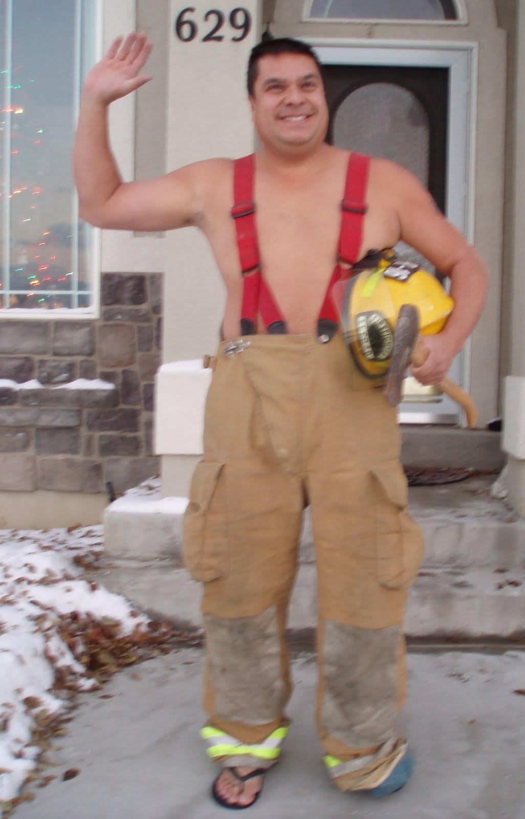 Wave At The Bus: Day 64 – Firefighter Calendar Hunk Hunk Short Timers Calendar