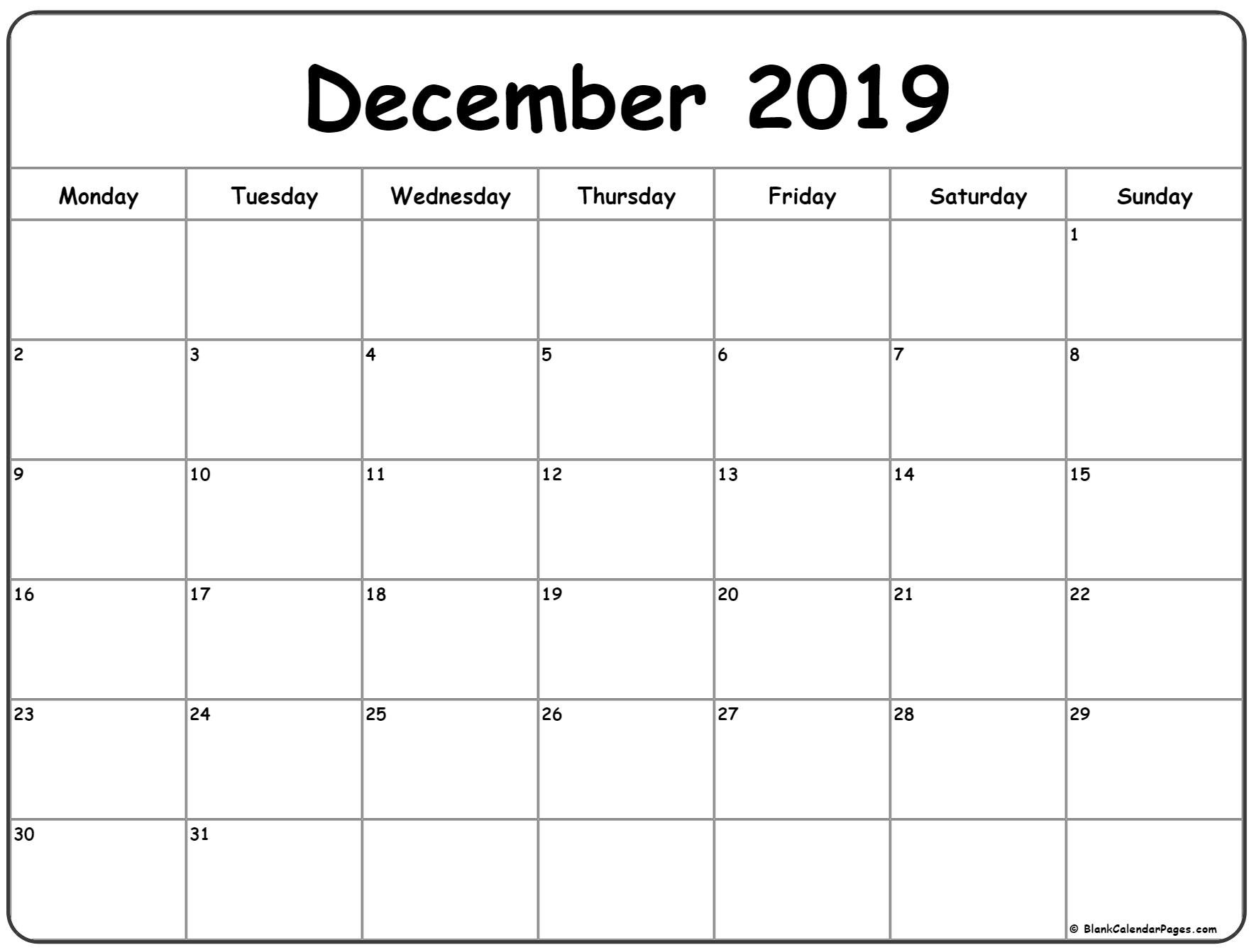 Week Calendar Monday To Sunday   Month Calendar Printable Mon Fri Calendar Template