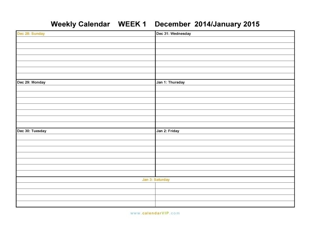 Week Calendar Monday To Sunday   Ten Free Printable Weekly Calendar Saturday To Friday