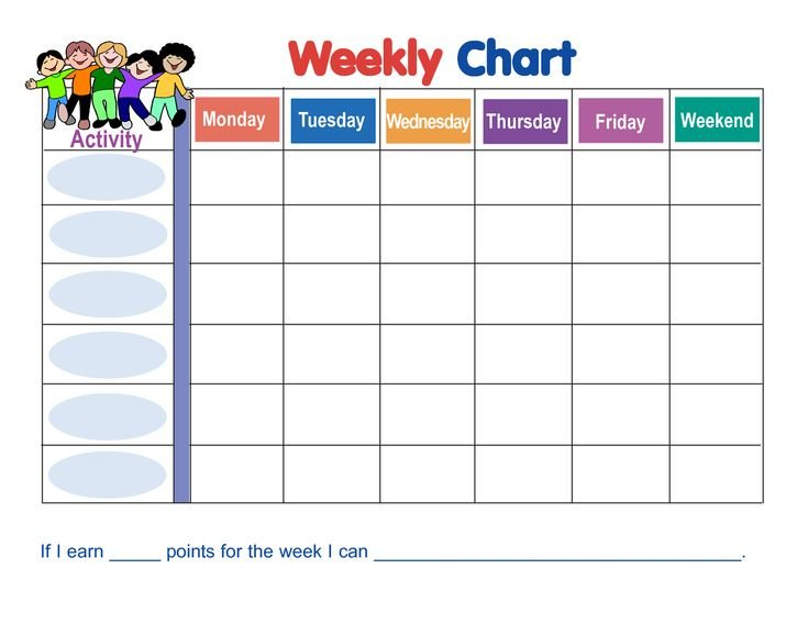 Weekly Behavior Chart Template | Behavior Sticker Chart Download Free Chart For Monday Friday