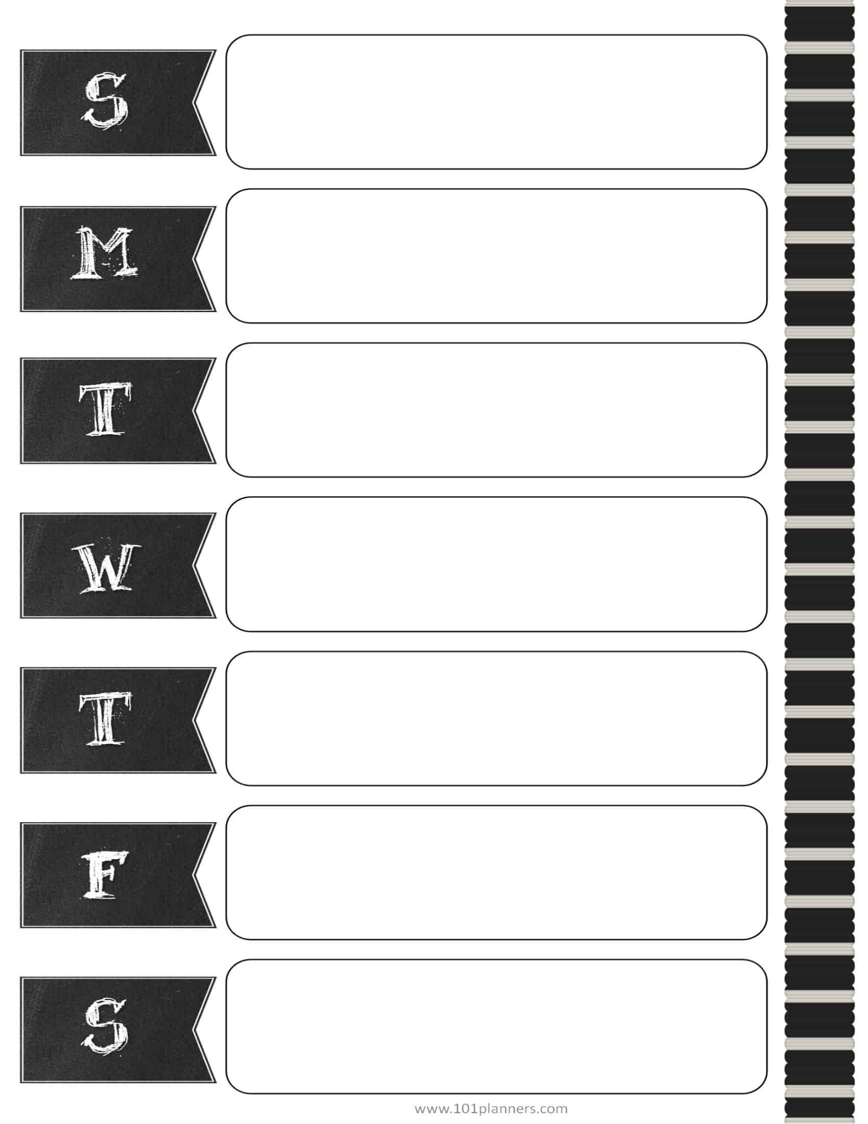 Weekly Calendar Maker | Create Free Custom Calendars Calendars That You Can Fill In