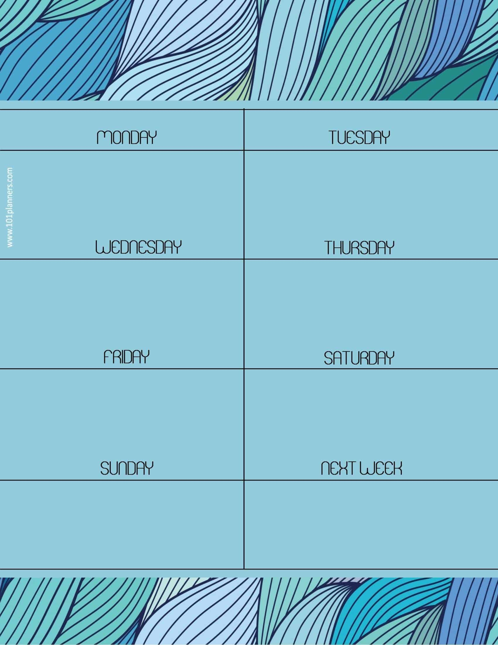 Weekly Calendar Maker | Create Free Custom Calendars Free Week Calendar Editable