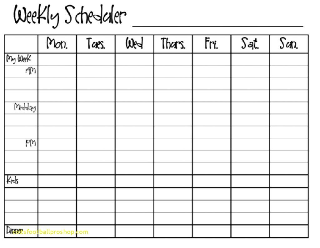 Weekly Calendar Template Monday To Friday | Example Monday To Friday Schedule