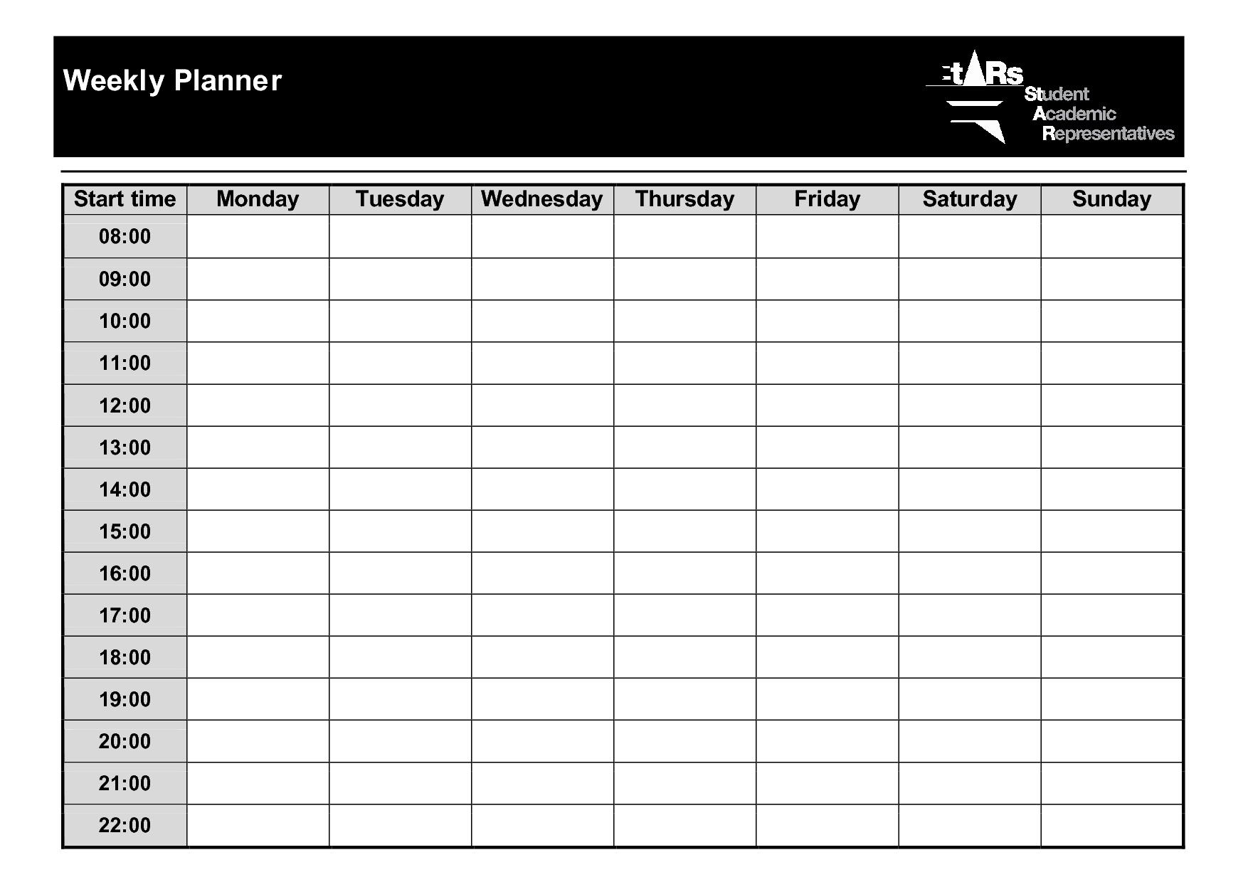 Weekly+Planner+Template+Pdf   Weekly Planner Template 2 Week Planner Printable