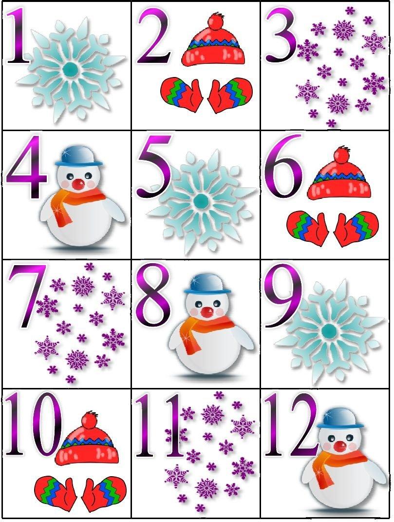 Winter Calendar Pieces | Preschool Calendar, Classroom Free Calendar With Number Cards