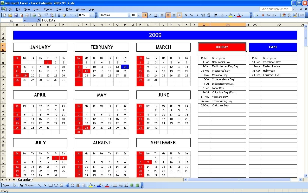 Year View Calendar Excel   Ten Free Printable Calendar Free Printable 5 Year Calendar