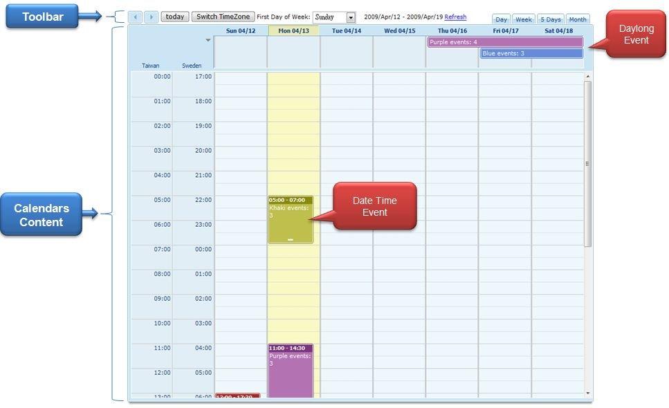 Zk – Small Talks/2010/February/Zk Calendar – Documentation Day Calendar With Times
