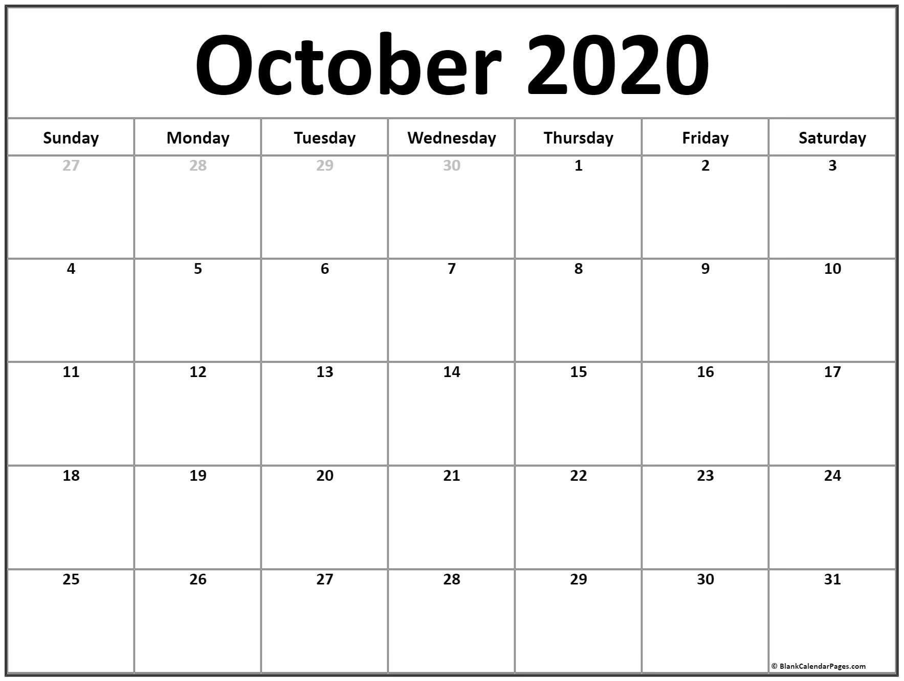 Zodiac Calendar October 2020   Calendar Printables Free Free Fill In Calendars