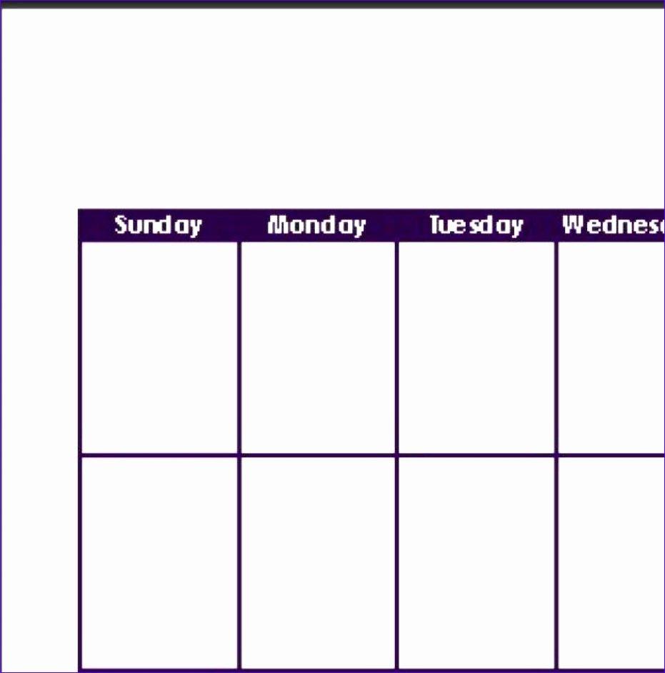 12 Excel Template Weekly Calendar – Excel Templates Two Week Calendar Form