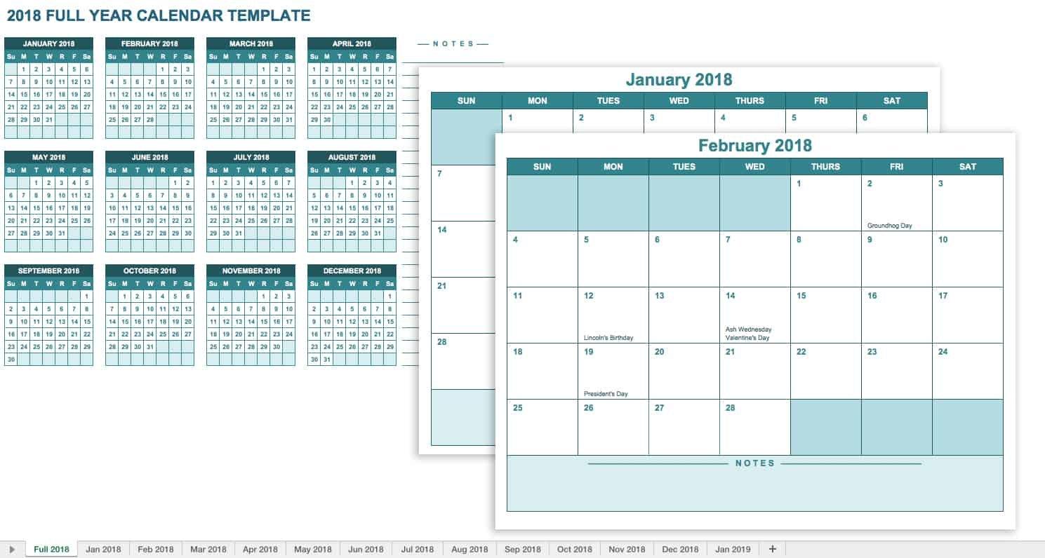 15 Free Monthly Calendar Templates   Smartsheet Annual Hr Planning Calendar Excel