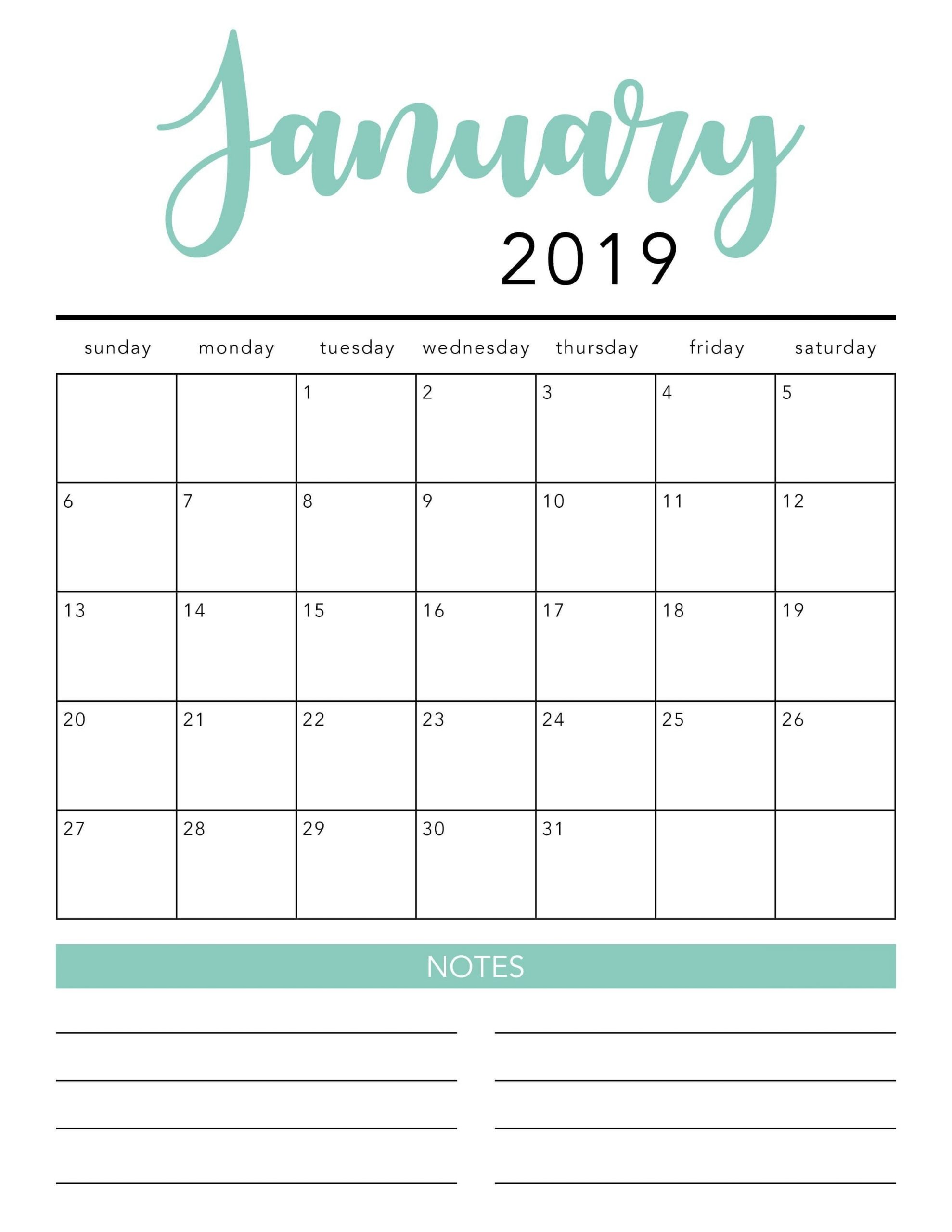 2 Page Template Monthly Plannner Template Free 2020 2 Page Monthly Calendar Free