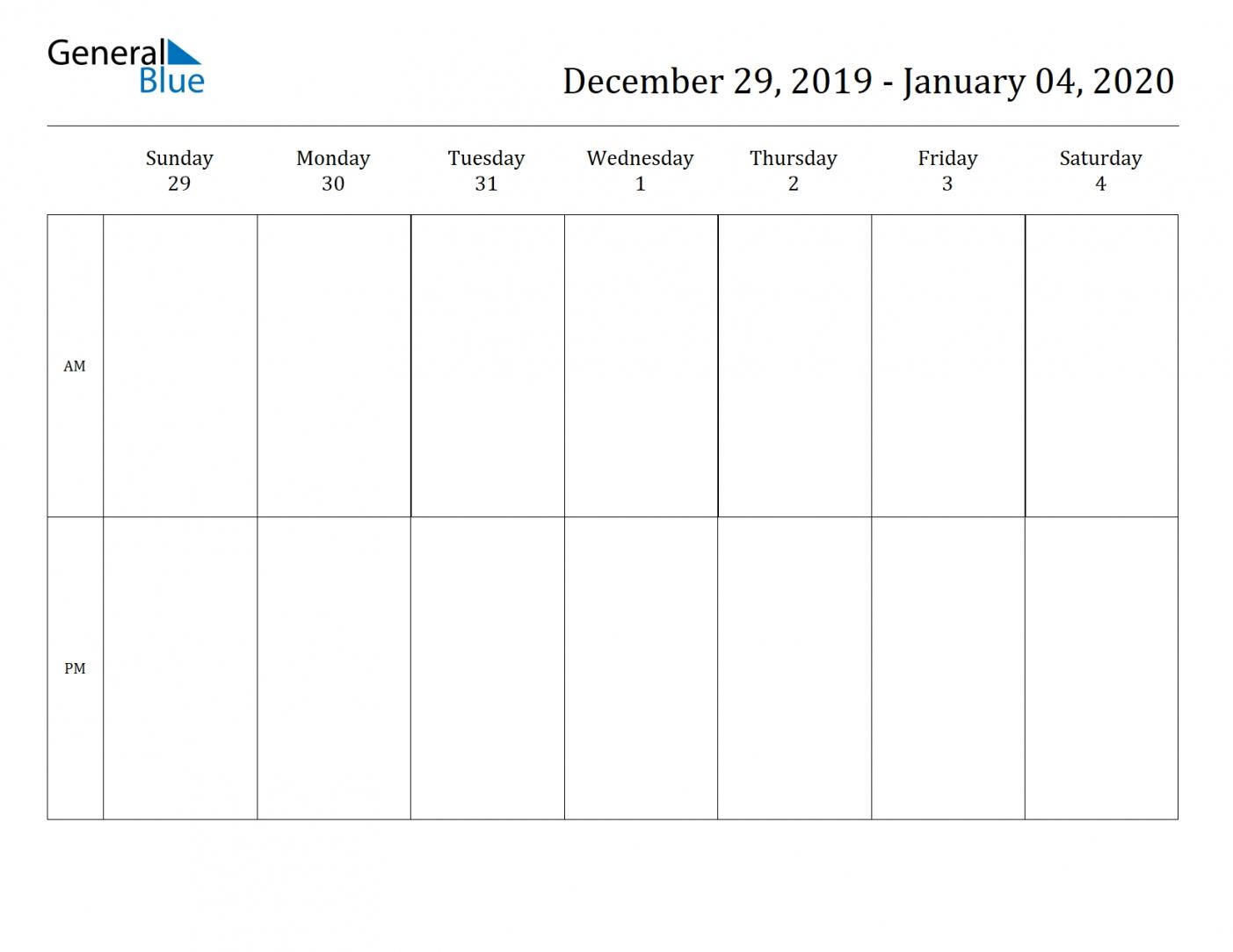 2 Week Blank Calendar 2020 Printable | Free Letter Templates Printable Two Week Schedule