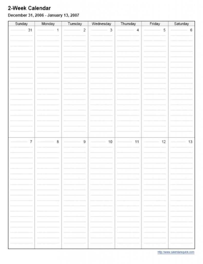 2 Week Calendar Printable : Free Calendar Template Free Printable Calendar 2 Week