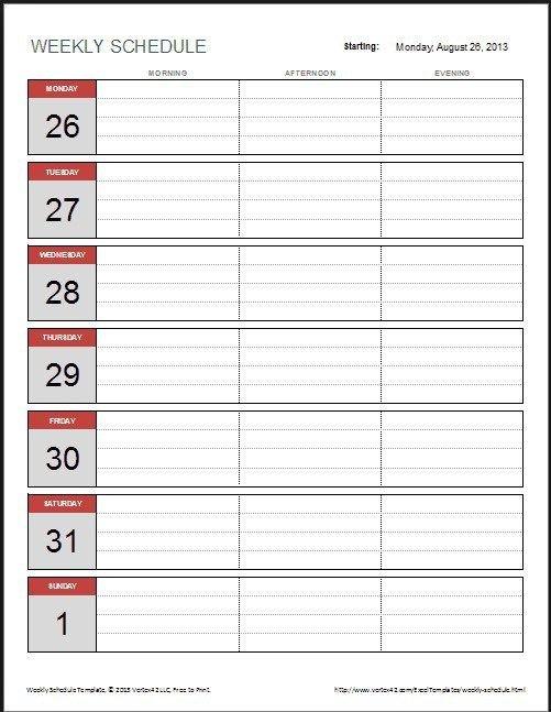2 Week Calendar Template 3 (With Images) | Calendar Create 2 Week Schedule