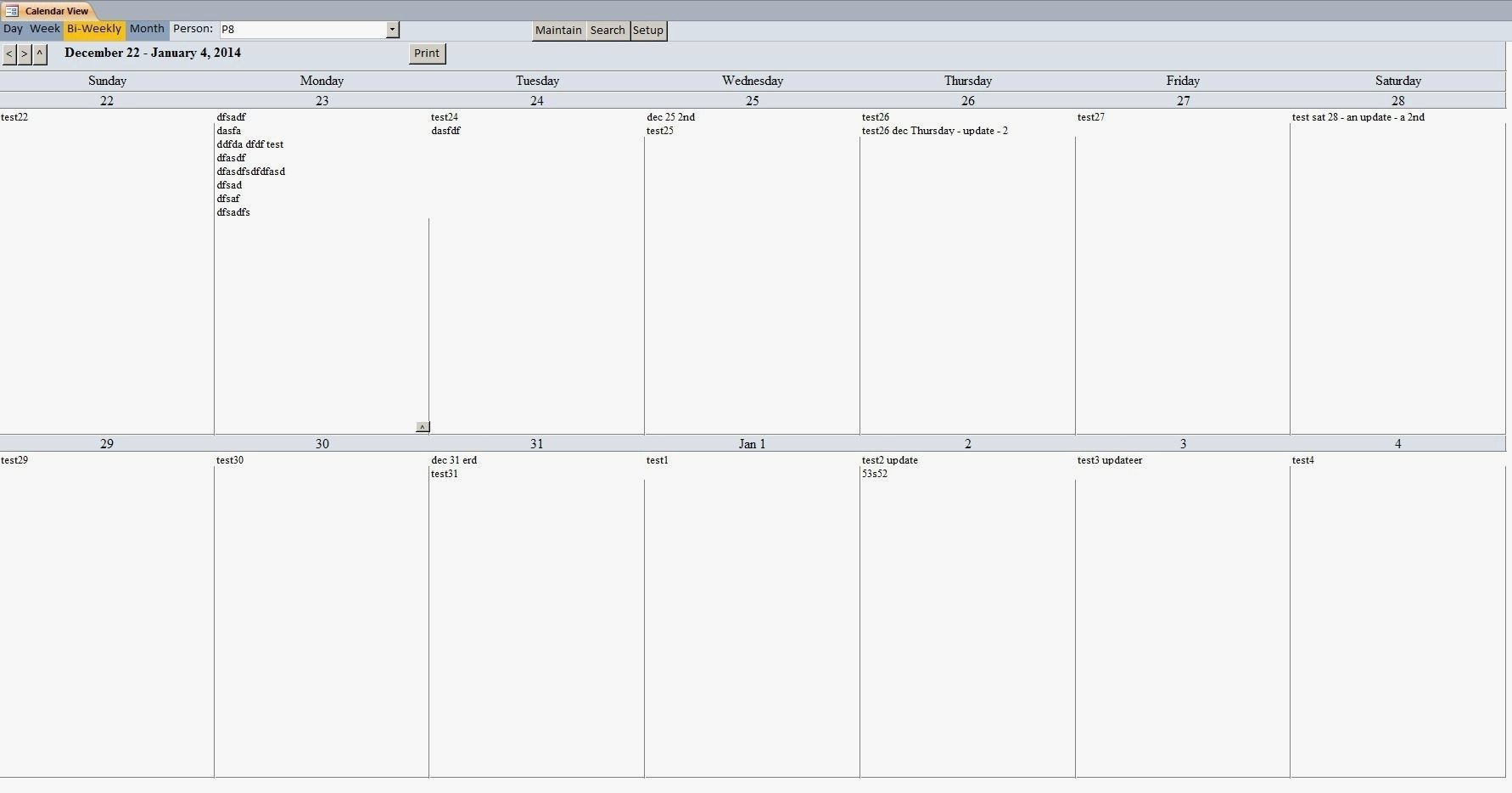 2 Week Calendar Template Printable | Free Calendar Free Printable Calendar 2 Week