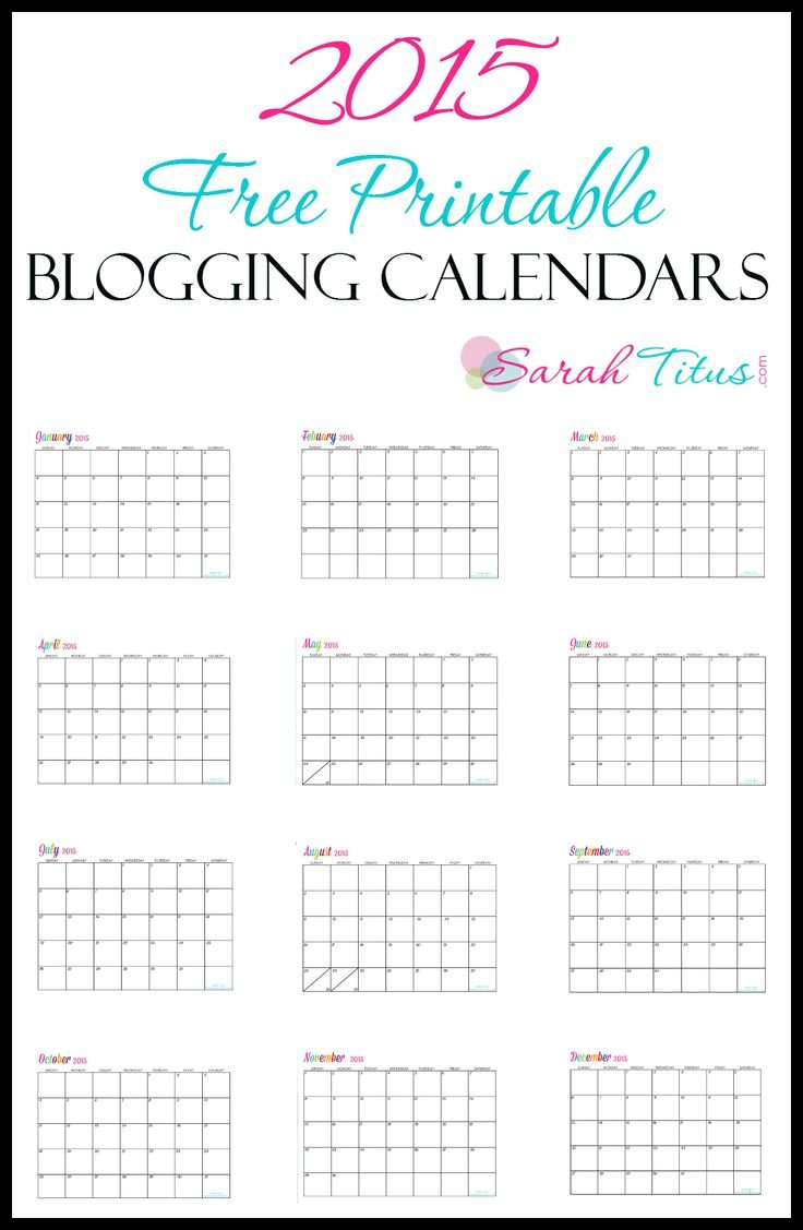 2015 Free Printable Calendars! You Can Edit Them All You Printable Calendar I Can Edit And Pring
