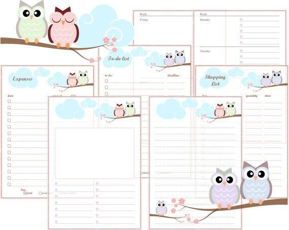 2016 A5 Printable Planner Inserts Free | Planner Inserts 8X5.5 Planner Inserts Free Printable