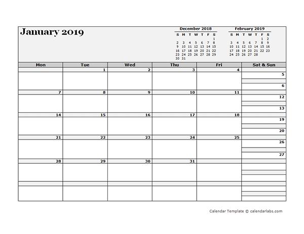 2019 Blank Three Month Calendar – Free Printable Templates Free Printable Calendars By 3 Months