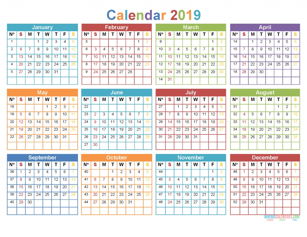 2020 12 Month Monday To Sunday Calendar Template Updateable 12 Month Calendar – Free