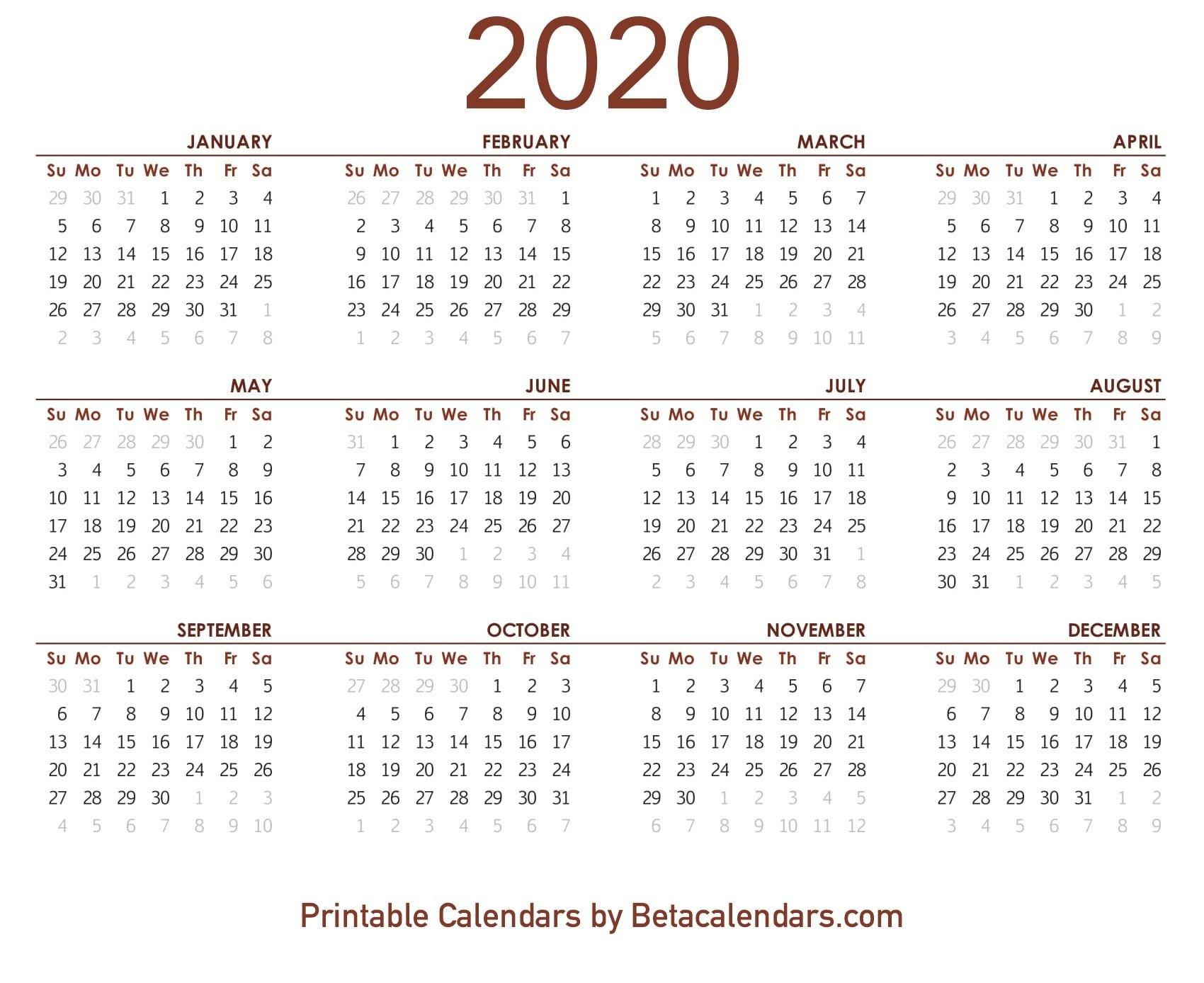 2020 Calendar 8 1/2 X 11 | Free Printable Calendar Free Printable 8 1/2 X 11 Calendar