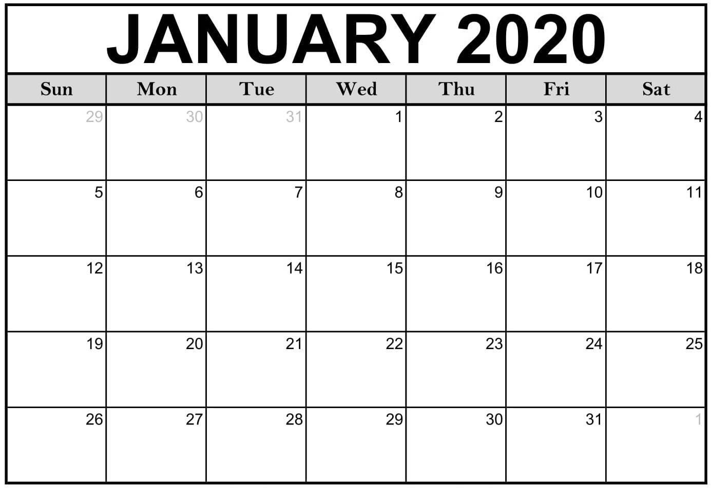 2020 Calendar Fillable   Free Printable Calendar Free Calendars That I Can Edit And Print