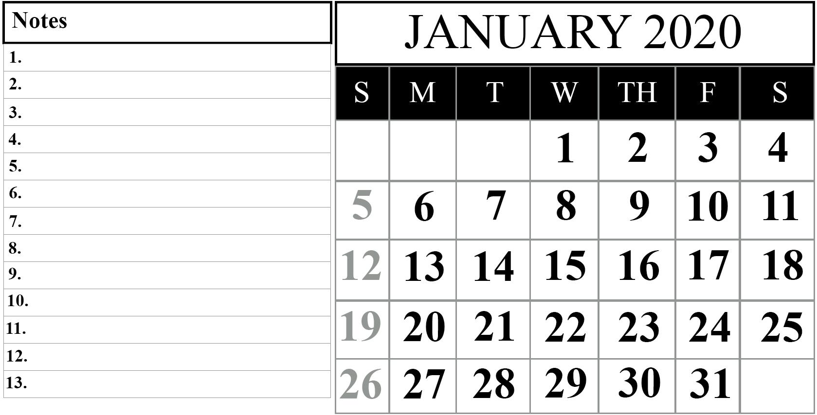 2020 Calendar I Can Edit   Calendar Template Printable Free Printable Calendar That I Can Edit