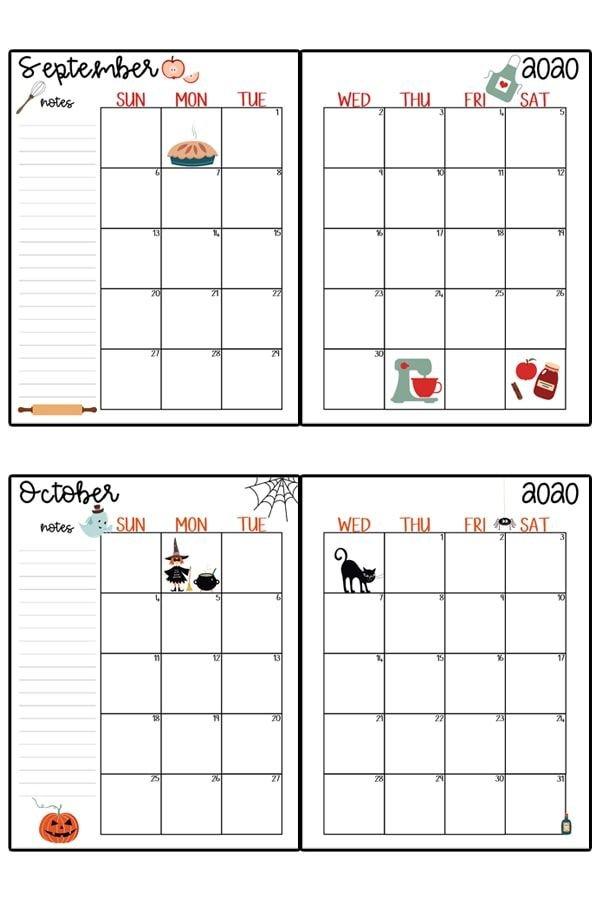 2020 Calendar Printable – Free Printable 2020 Monthly Free Printable Hp Calender