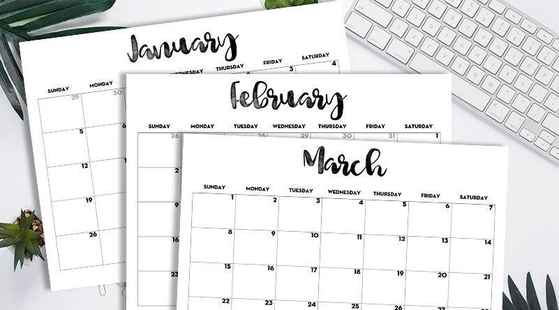 2020 Calendar Printable Free Template   Free Printable Free Printable Hp Calender