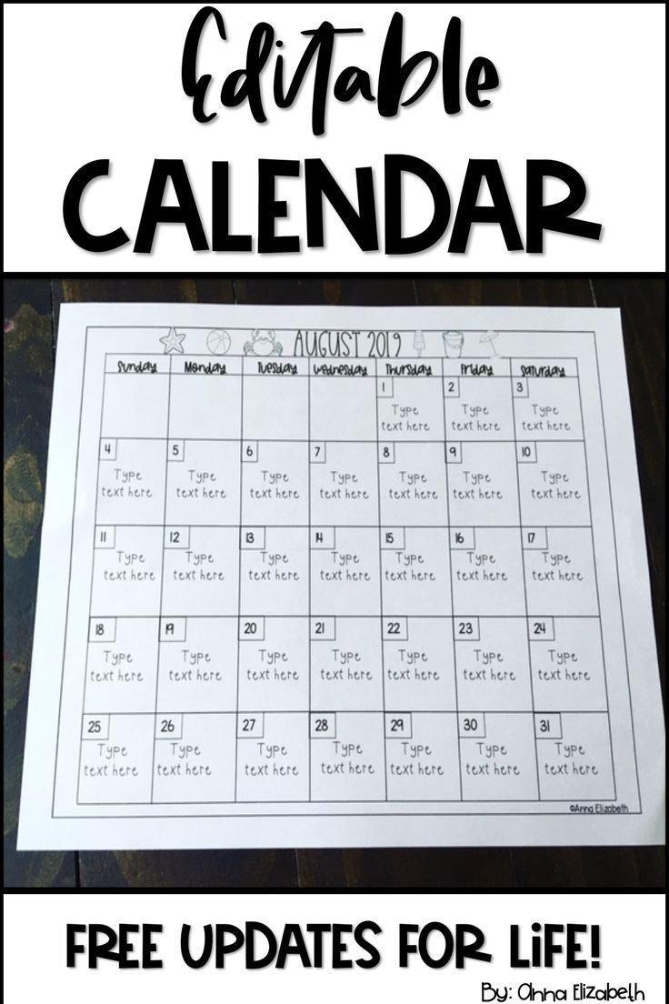 2020 Calendar Printable In 2020   Classroom Calendar Free Editable Preschool Calendar Template