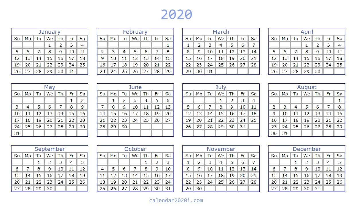 2020 Calendar You Can Edit   Calendar Printables Free Free Printable Calendar That I Can Edit