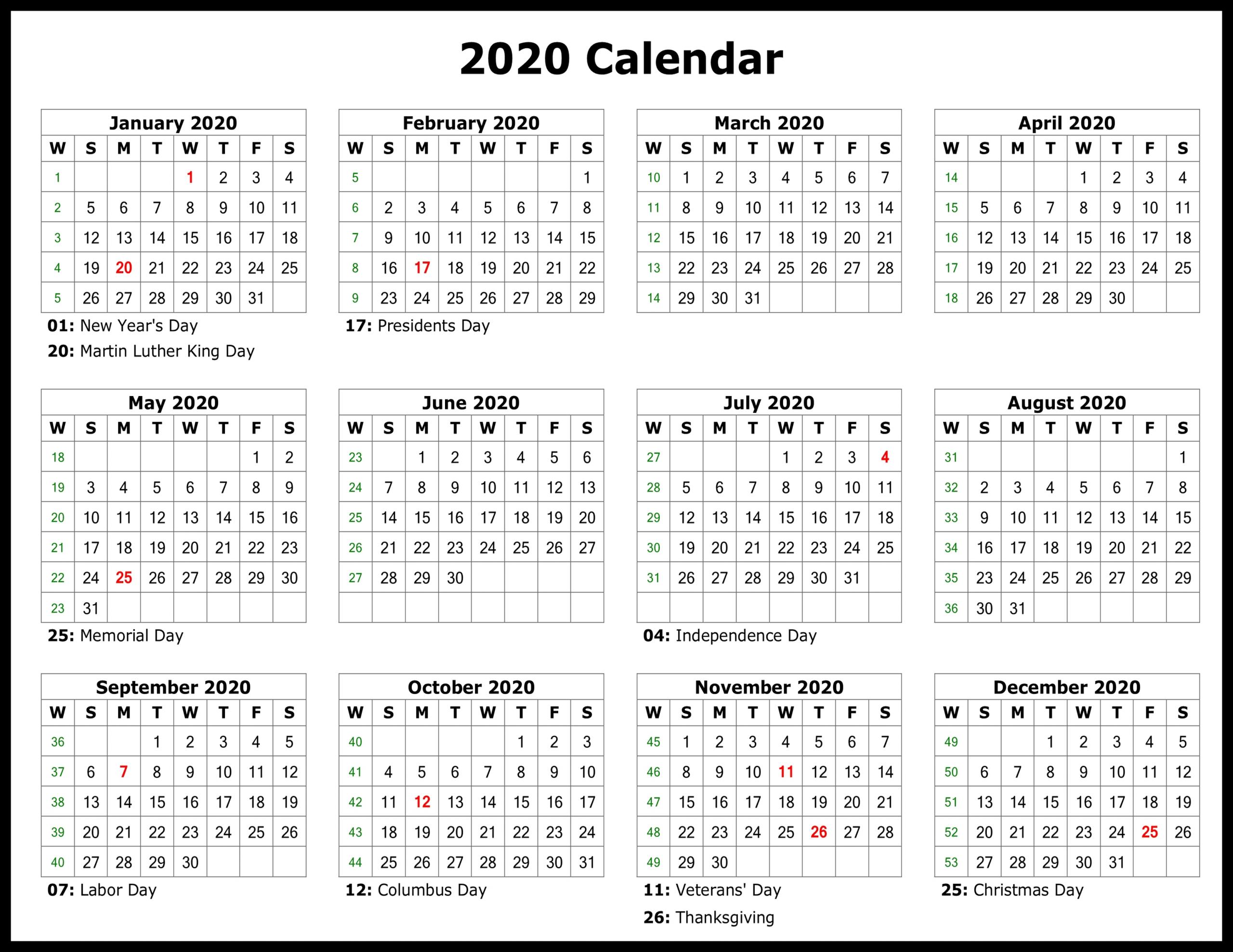 2020 Calendar You Can Edit   Month Calendar Printable Free Printable Calendar That I Can Edit