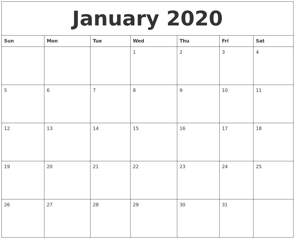2020 Fill In Calendar Fill In – Calendar Inspiration Design Large Printable Fill In Calender