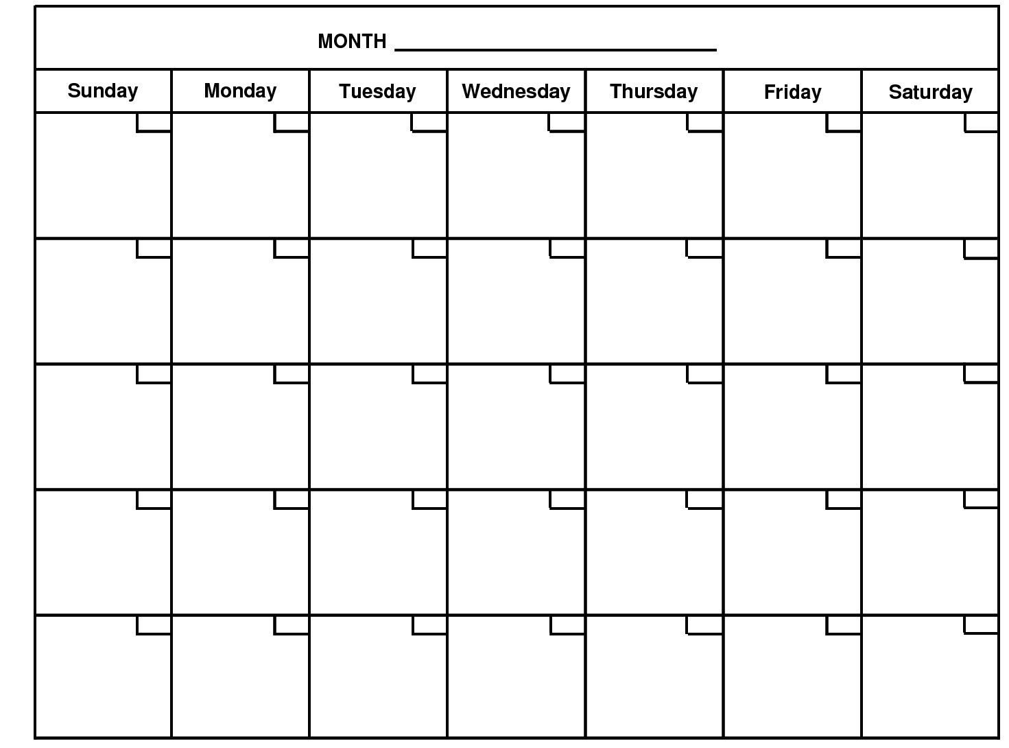 2020 Monthly Calendar Template Word – Google Search | Free 5 Ay Free Calendar