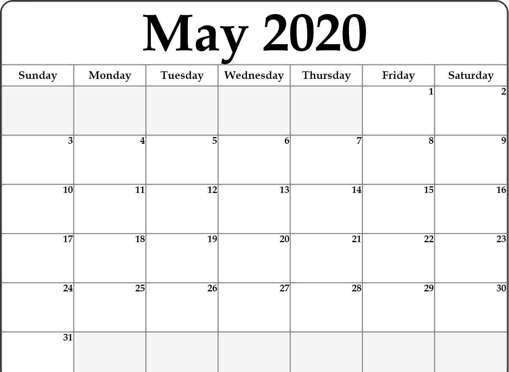 2020 Printable Fill In Calendar - Calendar Inspiration Design Fill In And Print Calendars