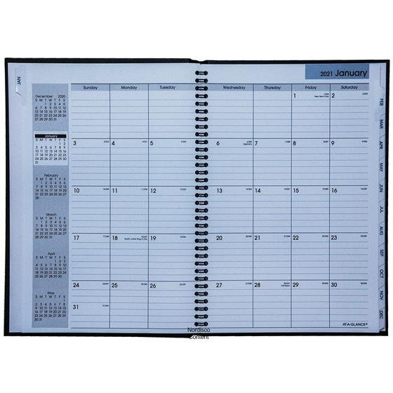 2021 At A Glance Dayminder G470H Monthly Planner Monthly Calendar On 8 X 11 Sheet